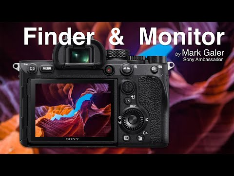 Sony ViewFinder (Finder) and Monitor Settings
