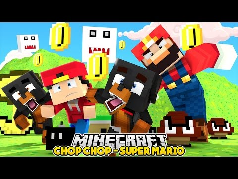 Minecraft Chop Chop - LITTLE CLUB GETS CHOPPED BY SUPER MARIO - Little Club Baby Max, Donut RoPo