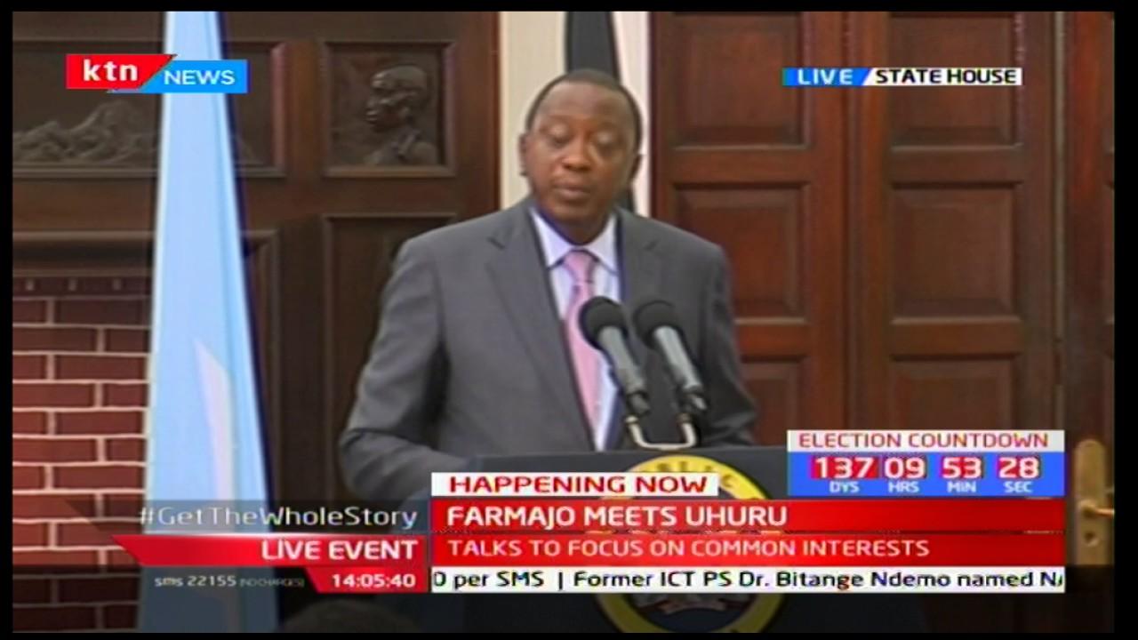 President Uhuru Kenyatta's speech during his meeting with Somalia President Farmajo