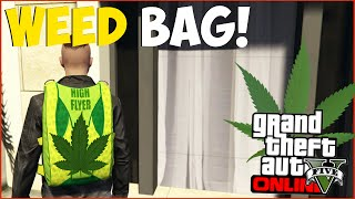 "GTA 5 Online: RARE ""Weed Bag"" Clothing Item! Secret WEED Parachute Bag Online! ""GTA 5 Glitches"""