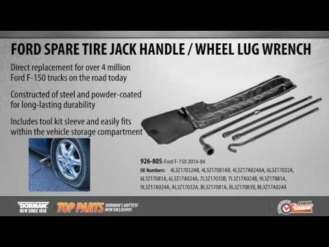 Highlighted Part: Spare Tire Jack Handle / Wheel Lug Wrench for Select Ford F-150 & Lincoln Models