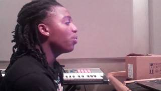 Jacquees singing  Always Be My Baby  by Mariah Carey