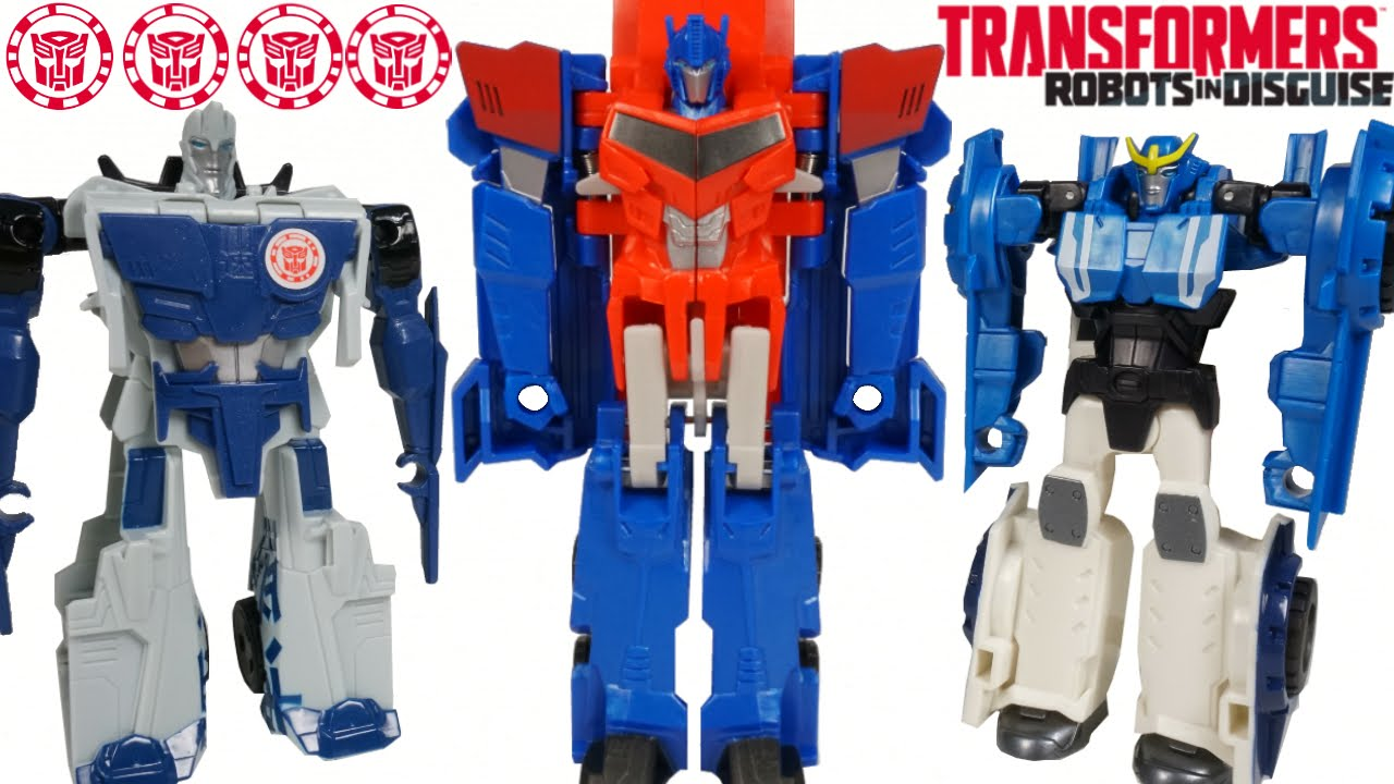 NEW WAVE 7 TRANSFORMERS ONE STEP CHANGERS ROBOTS IN DISGUISE OPTIMUS PRIME STRONGARM SIDESWIPE