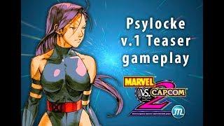 Marvel vs Capcom 2 M.U.G.E.N. Project - Psylocke v1 Teaser Gameplay