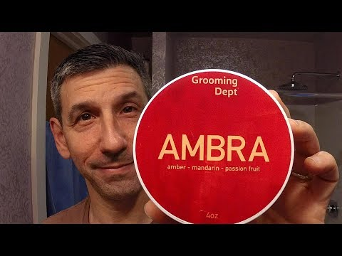 """Grooming Dept """"Ambra"""" shave soap"""