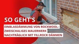 Einblasdämmung: So dämmen Sie Ihr zweischaliges Mauerwerk nachträglich mit Fillrock von ROCKWOOL