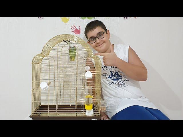Buğra Muhabbet Kuşu Paşaya Büyük Kafes Aldı