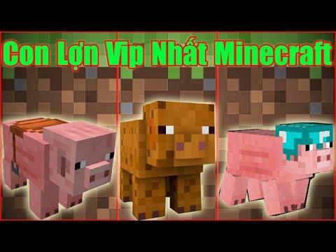 Nếu Bạn Nuôi Được Con Lợn Vip Nhất Trong Minecraf** Sự Tiến Hóa Của Con Lợn Trong Minecraft