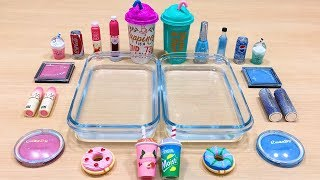 PINK vs BLUE ! Mixing Makeup Eyeshadow into Clear Slime! Special Series#108 Satisfying Slime Videos