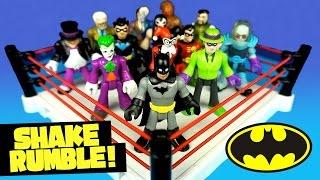 Batman Toys Battle Royal ft. Imaginext Batman Toys & Joker Shake Rumble by KidCity