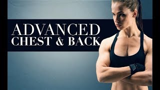 Advanced Chest and Back Workout (FOR WOMEN AT HOME!!)