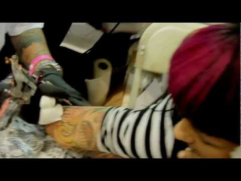 Isaiah negrete tattooing crazy lady in san diego