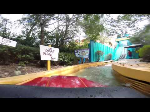 Dudley Do-Right's Ripsaw Falls POV Front ride - Universal Studios Orlando - Gopro