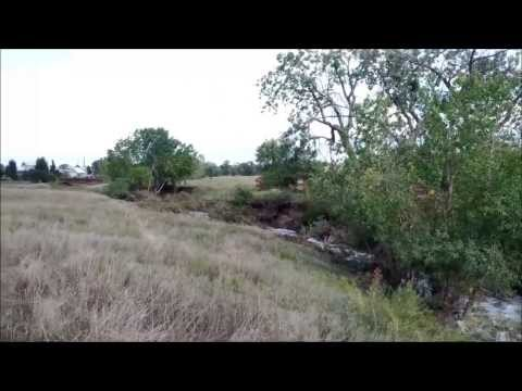 Superior Colorado Rock Creek during and after the flood