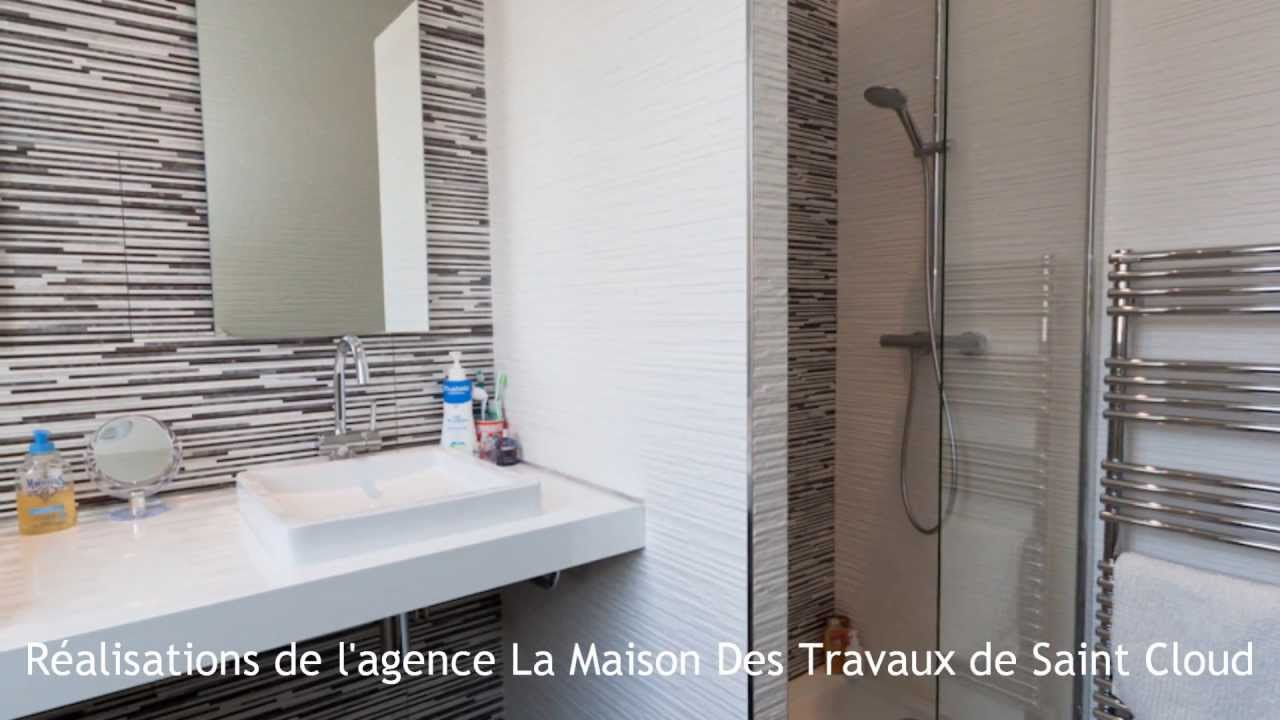 r novations de salles de bains par l 39 agence la maison des travaux pont de saint cloud 92 youtube. Black Bedroom Furniture Sets. Home Design Ideas