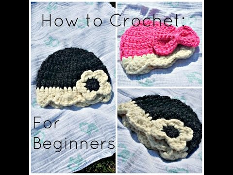 Beginners Crochet Tutorial For Baby Hat