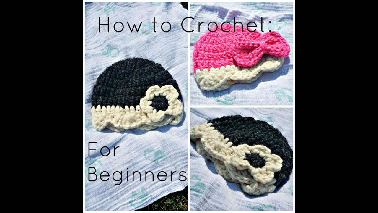 Youtube Crocheting For Beginners : Beginners Crochet Tutorial for Baby Hat - YouTube