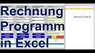 Excel Rechnung Erstellen