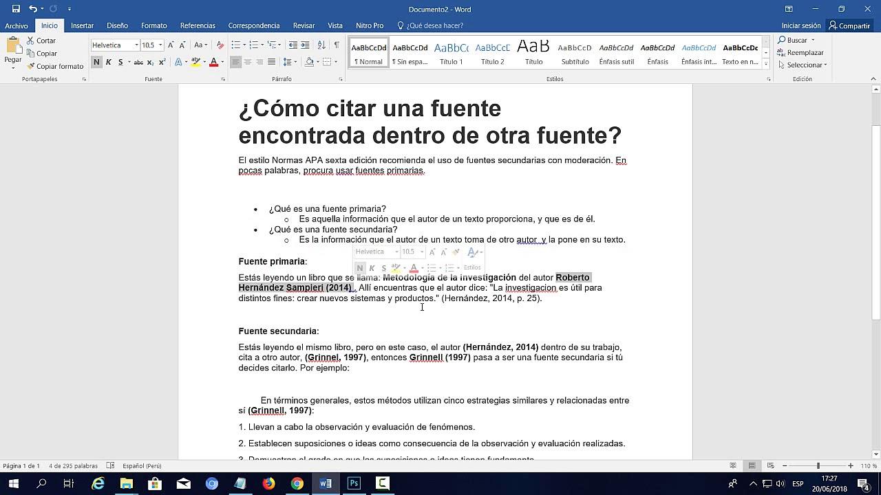 Normas Apa 2019 Sexta Edición Citar Una Fuente Encontrada Dentro De Otra Fuente