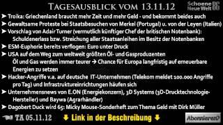 Tagesausblick-Themen vom 13.11.12 (Dirk Müller) [+Verlinkung]