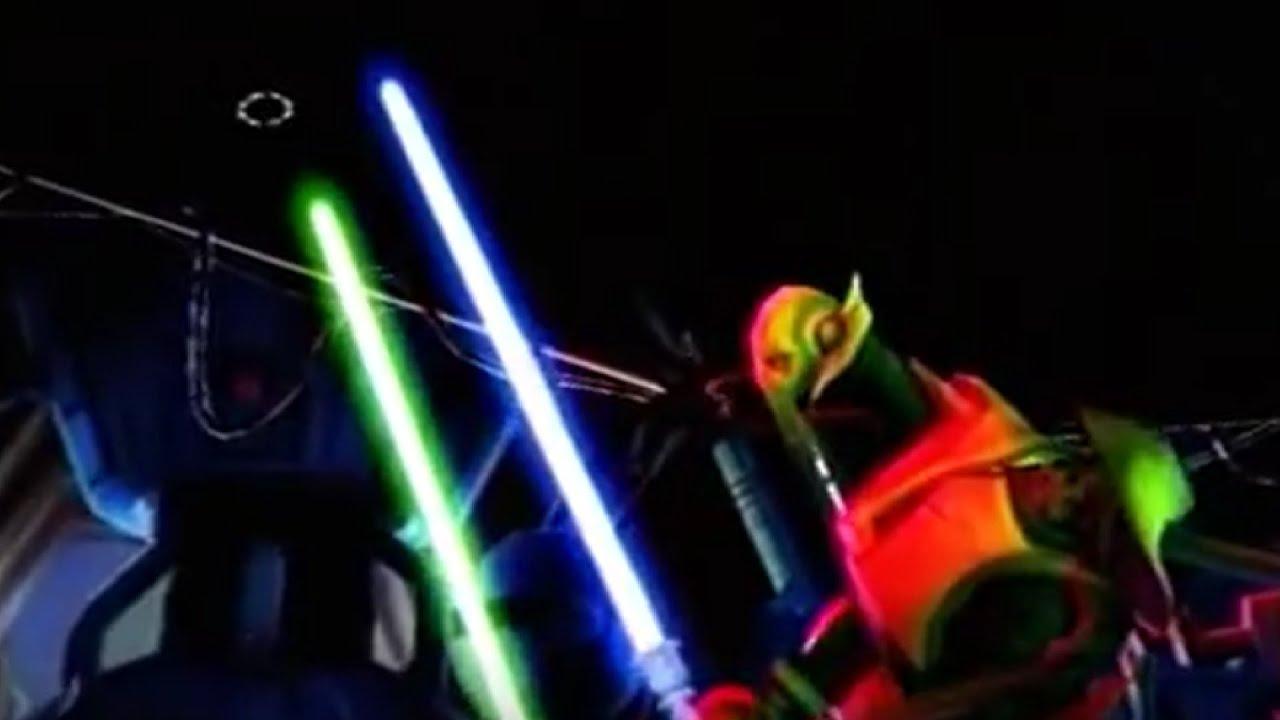 Star Wars General Grievous Vs Eg 5 Jedi Hunter Droid Youtube