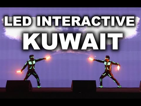 LED Interactive Performance  | Light Dance Group in Kuwait by Skeleton Dance Crew