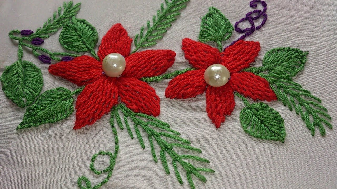 Hand Embroidery Designs Raised Stem Stitch Tutorial Embossed