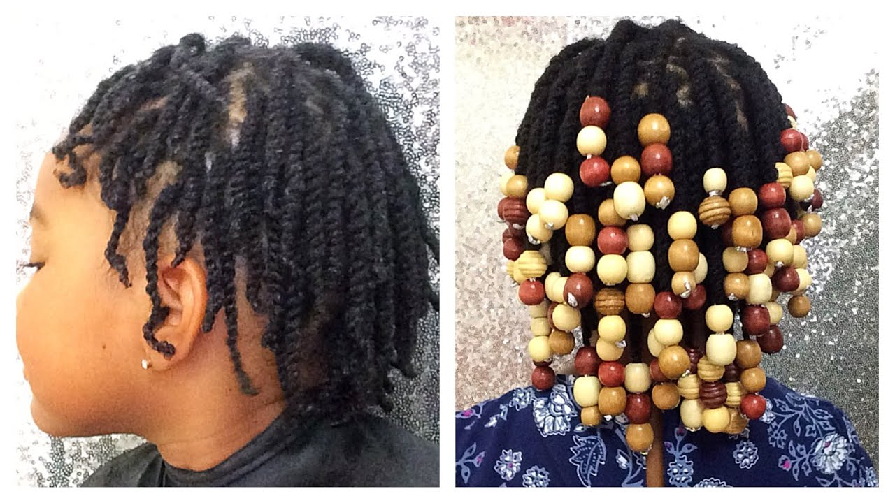 Protective Hair Styles For Short 4c Hair: Natural Hair Kids Protective Styles: Beads On Natural 4c
