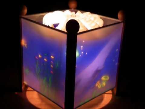kinderlampe magische laterne regenbogenfisch unterwasserwelt von trousselier youtube. Black Bedroom Furniture Sets. Home Design Ideas