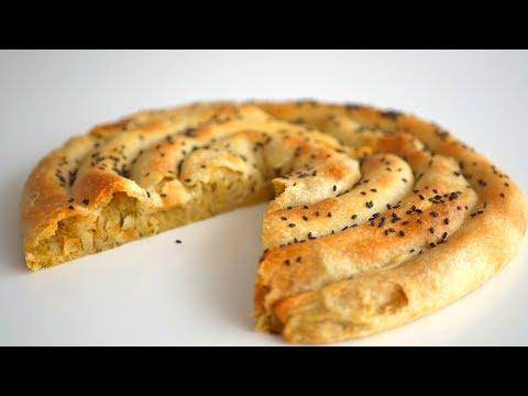 """Пирог """"Улитка"""" без яиц и молочных продуктов.Тонкое хрустящее тесто и много начинки"""