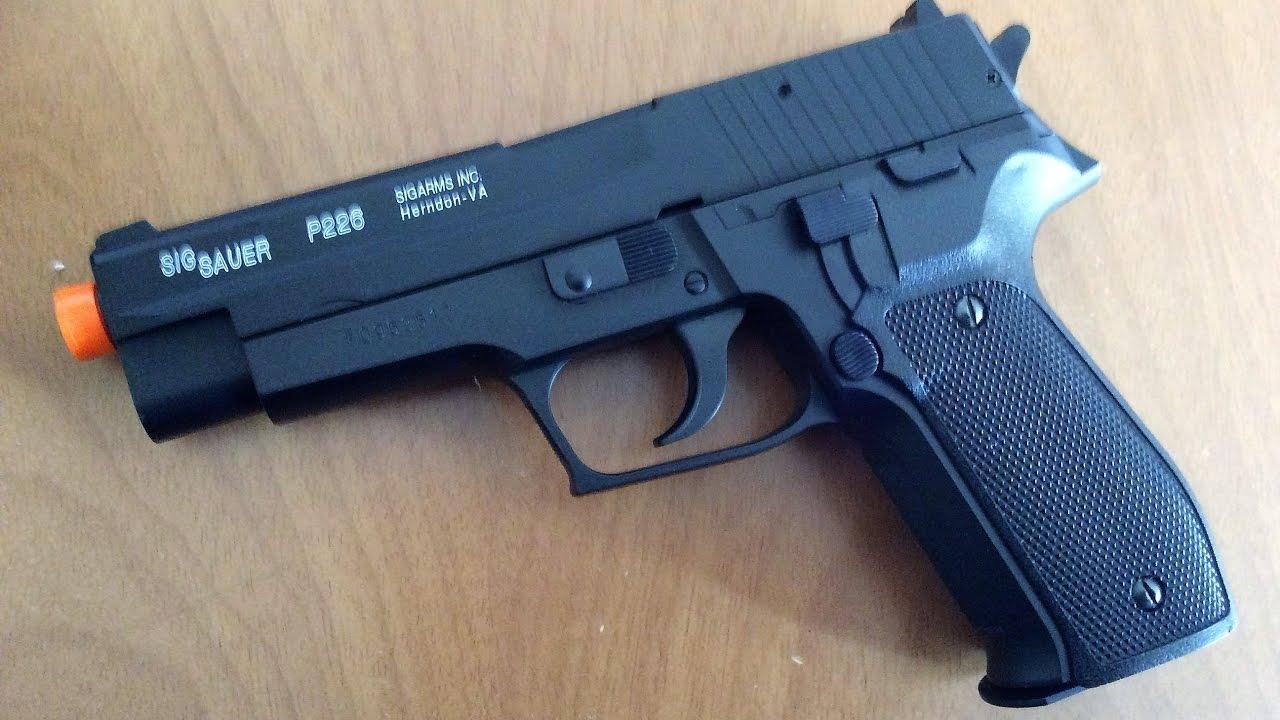 2e5dc873404 Review Airsoft Pistola Spring Sig Sauer P226 Slide Metal Cybergun ...
