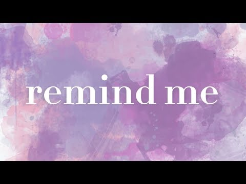 Ginny Owens - Remind Me (Official Lyric Video)