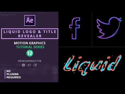Liquid Logo and Title Revealer in AE
