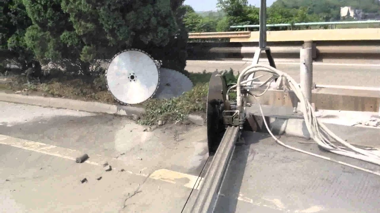 Wall Saws Hydrostress : Hydraulic wall saw youtube