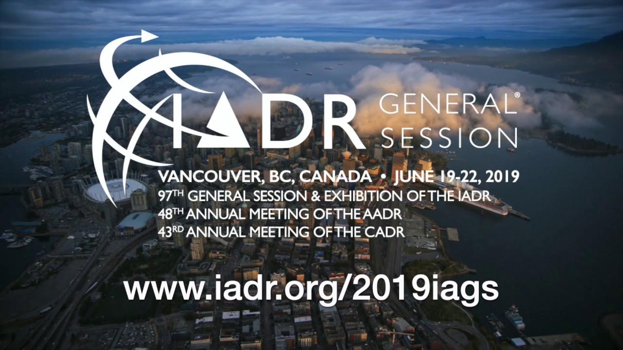 IADR/AADR/CADR General Session – Vancouver, Canada