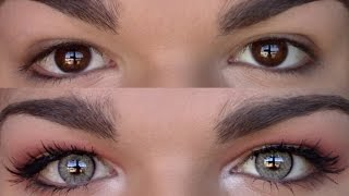 Solotica Colored Contacts REVIEW for Brown Eyes! (Quartz) | Tony Graham