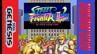 Street Fighter 2 Turbo Special champion edition Hyper fighting SNES & Sega Genesis