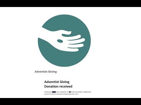 Using Adventist Giving - Brazilian Temple