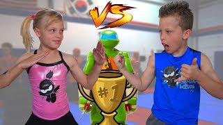 - Sister vs Brother TWIN NINJA Challenge