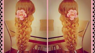 Причёска романтичная из кос  Причёска для длинных волос. Очень просто. Видео-урок.