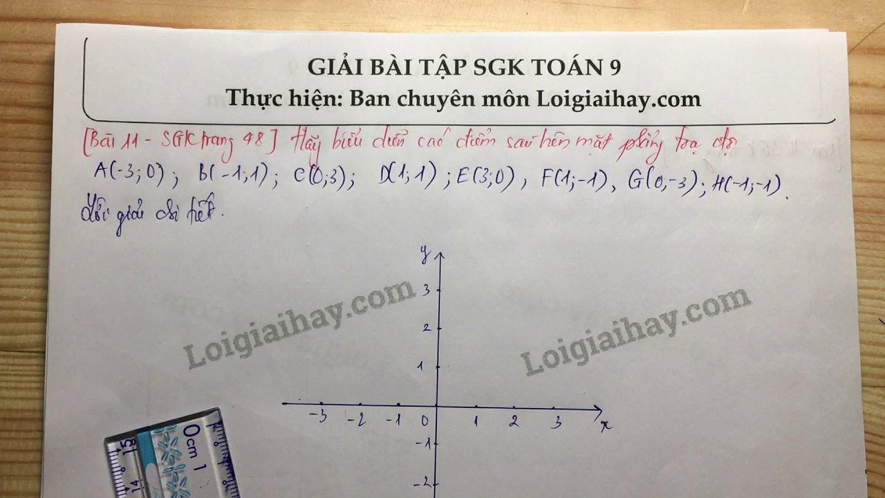 Giải bài 11 trang 48 SGK toán 9 tập 1