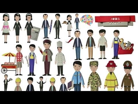 Click [by Mahidol] Jobs - Part 1 รวบรวมคำศัพท์เวลาเรียกขานอาชีพต่าง ๆ