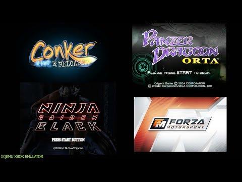XQEMU Xbox Emulator - Conker LaR / Panzer Dragoon Orta / Ninja Gaiden Black / Forza Motorsport (WIP)
