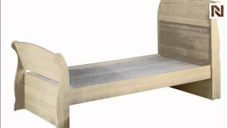 Nexera Alegria Twin Size Sleigh Bed 5639