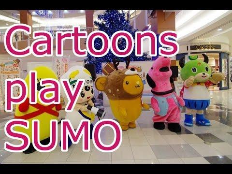 Japan Life - Cute Cartoons play Sumo