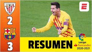 Athletic Club 2-3 Barcelona. DOBLETE de Lionel Messi; y récord impresionante del argentino | LaLiga