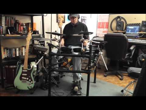 EXTREME BASS WARNING  Bernard Purdie Shuffle with some Hiphop reconstruction on a Roland TD-15!
