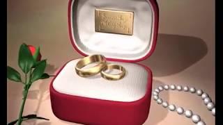 Свадебные кольца в футляре