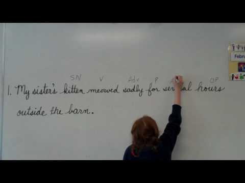 3rd grade demonstrates Shurley Grammar