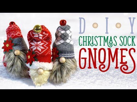 Christmas Gnomes Diy.Diy Christmas Sock Gnomes Christmas Decorations